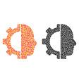 dot cyborg gear mosaic icons vector image