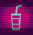 drinks neon sign vector image