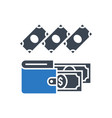expenses glyph icon vector image vector image