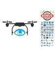 Eye Spy Drone Icon With 2017 Year Bonus Pictograms vector image vector image