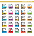 file format pixel icons vector image vector image