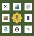 flat icon play set of jigsaw backgammon arrow vector image vector image