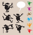 Frog Dancing Silhouettes 2 vector image vector image