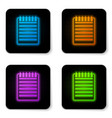 glowing neon notebook icon isolated on white vector image vector image