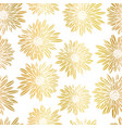 gold foil aster dahlia flowers elegant seamless vector image vector image