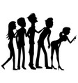 group people on white background vector image vector image