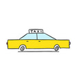 hand drawn yellow taxi icon vector image