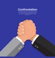 hands of businessmen in fight vector image