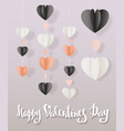happy valentines day modern ink brush calligraphy vector image vector image