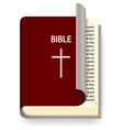 Holy Bible vector image vector image
