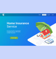 home insurance lp template vector image vector image