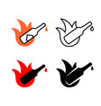 hot sauce logo chili or other hot spice bottle vector image