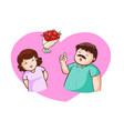 husband and wife talk about valentine vector image