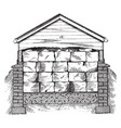 ice house natural sources winter vintage vector image vector image