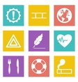 Icons for Web Design and Mobile Applications set 9 vector image vector image