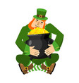 leprechaun and pot of gold my precious stpatricks vector image vector image