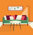 lliving room interior vector image
