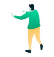 man attention icon isometric style vector image vector image