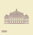 Opera garnier paris france flat icon