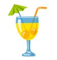 orange cocktail beverage vector image