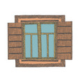 painted window part of the house vector image vector image
