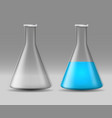 realistic detailed 3d glass chemical laboratory vector image