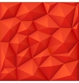 Red 3d polygon background modern origami vector image vector image