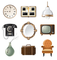 retro - styled home related objects vector image vector image