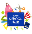 school sale label badge vector image vector image