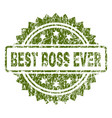 scratched textured best boss ever stamp seal vector image