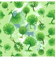 Seamless background of decorative trees vector image