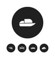 set of 5 editable shipment icons includes symbols vector image vector image