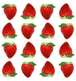 strawberry seamless pattern realistic whole vector image