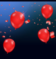 templates of a celebration of the red balloons vector image vector image