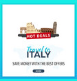 travel to italy travel template banners for vector image vector image