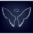 Wings sign Flat style icon vector image vector image