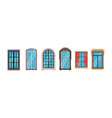 wooden and plastic window frames office home vector image