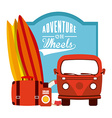 adventure on wheels vector image