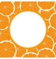 round frame with seamless pattern of orange fruit vector image