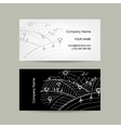 Abstract business card field sketch vector image
