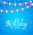 abstract happy birthday background card template vector image vector image
