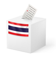 Ballot box with voicing paper Thailand vector image vector image