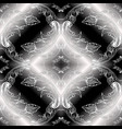 baroque black and white 3d seamless pattern vector image vector image
