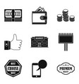 big sale icons set simple style vector image