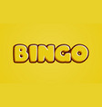 bingo yellow text effect template with 3d type