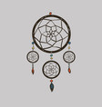 boho with dream catcher vector image vector image