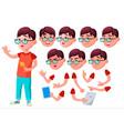 boy child kid teen joy comic classmate vector image