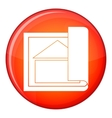Building plan icon flat style vector image vector image
