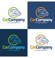 car company logo and icon vector image vector image
