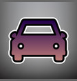 car sign violet gradient vector image vector image